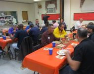 Thanksgiving celebration with board members